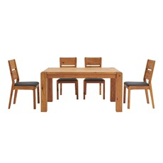 Mezzano 150cm Dining Table & 4 Dining Chairs