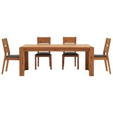 Mezzano 190cm Dining Table & 4 Dining Chairs