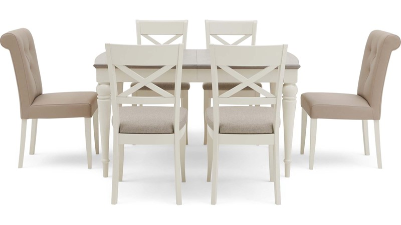 Extending Dining Table & 4 Cross Back Chairs