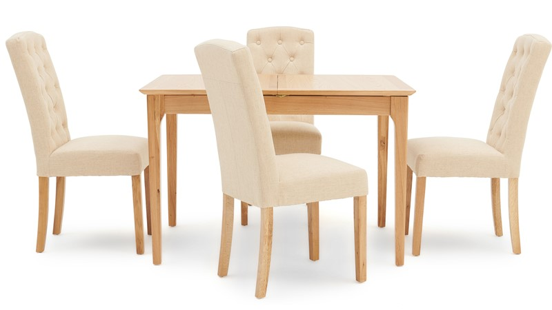 Newbury 120cm Extending Table & 4 Cranbrook Dining Chairs