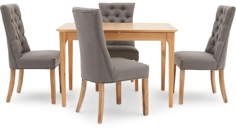 Newbury 120cm Extending Table & 4 Cranbrook Curved Dining Chairs