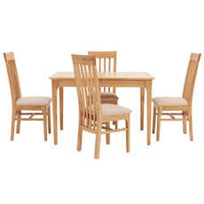 Newbury 120cm Table & 4 Slat Back Chairs