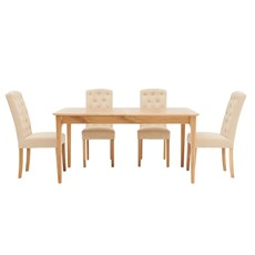 Newbury 160cm Extending Table & 4 Cranbrook Dining Chairs