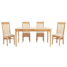 Newbury 160cm Table & 4 Slat Back Chairs