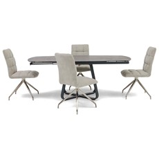 Nikita Extending Dining Table & 4 Dallas Chairs