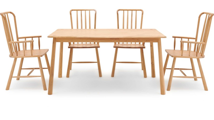 Nissa Dining Table & 4 Carver Chairs