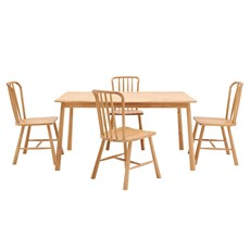Nissa Dining Table & 4 Dining Chairs