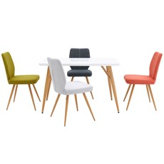 Nouvel Dining Table & 4 Hansen Chairs