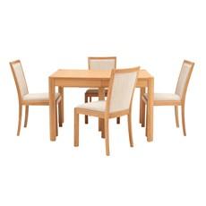 Olsen Rectangular Table & 4 Fabric Upholstered Chairs