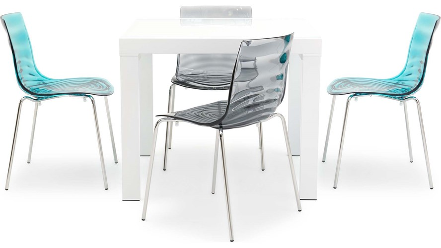 Omar Extending Dining Table & 4 Calligaris L\'eau Chairs | Sterling ...