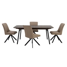Osaka Extending Dining Table & 4 Cora Chairs