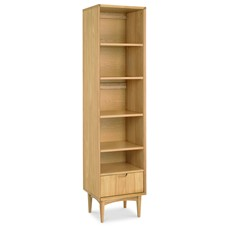Carter Oak Narrow Bookcase