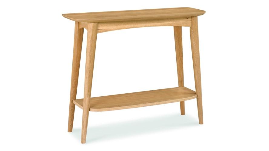 Carter Oak Console Table with Shelf