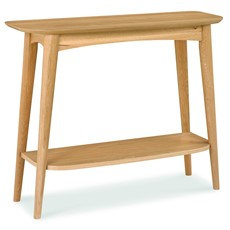 Carter Oak Console Table with Shelf