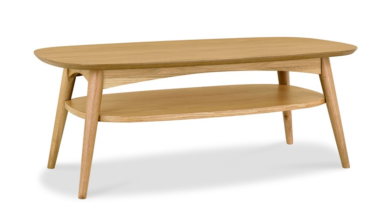 Carter Oak Coffee Table with Shelf