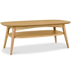 Carter Oak Coffee Table with Shelf