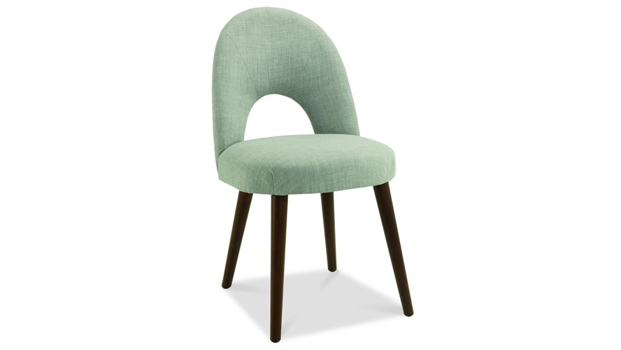 Carter Walnut Upholstered Dining Chair
