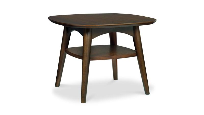 Carter Walnut Lamp Table with Shelf