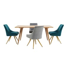 Pandora Dining Table & 4 Bailey Chairs