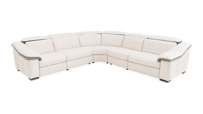 Natuzzi Editions Parma Corner Sofa With 1 Power Recliner