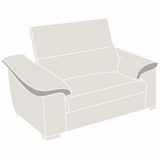 Natuzzi Editions Parma Loveseat Sofa