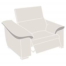 Natuzzi Editions Parma Power Recliner Armchair