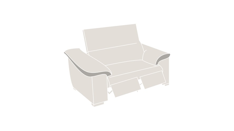 Natuzzi Editions Parma Power Recliner Loveseat Sofa