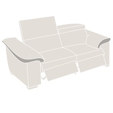 Natuzzi Editions Parma Power Recliner Sofa