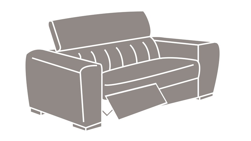Natuzzi Editions Pavia Power Recliner Loveseat Sofa