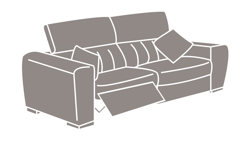 Natuzzi Editions Pavia Power Recliner Sofa