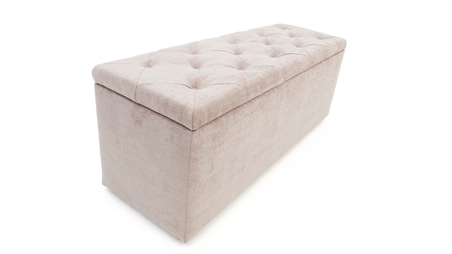 Piera Bedframe, Ottoman & Footstool Set
