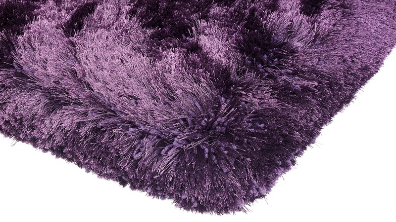 Plush Shaggy Rug - Purple