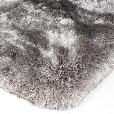 Plush Shaggy Rug - Silver