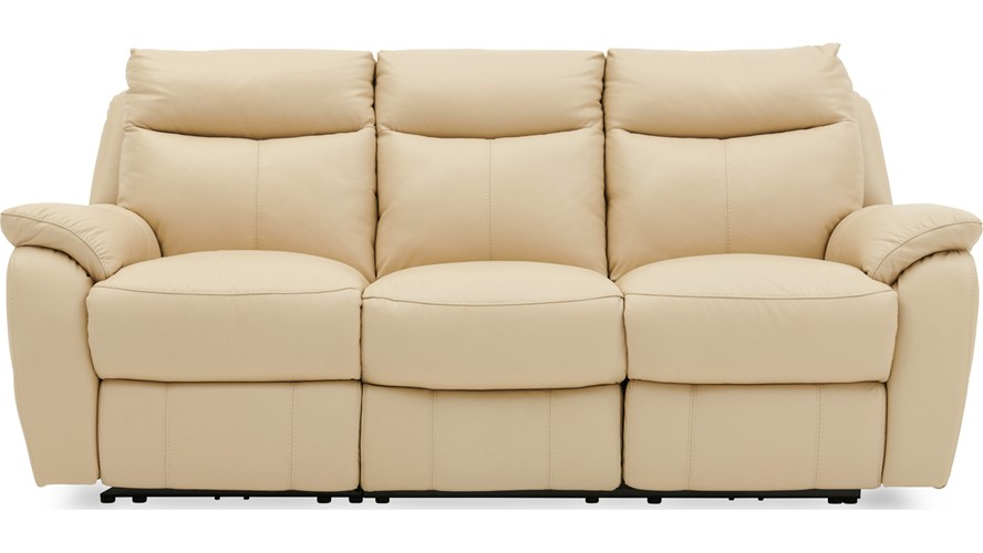Poise 3 Seater Recliner Sofa - Leather