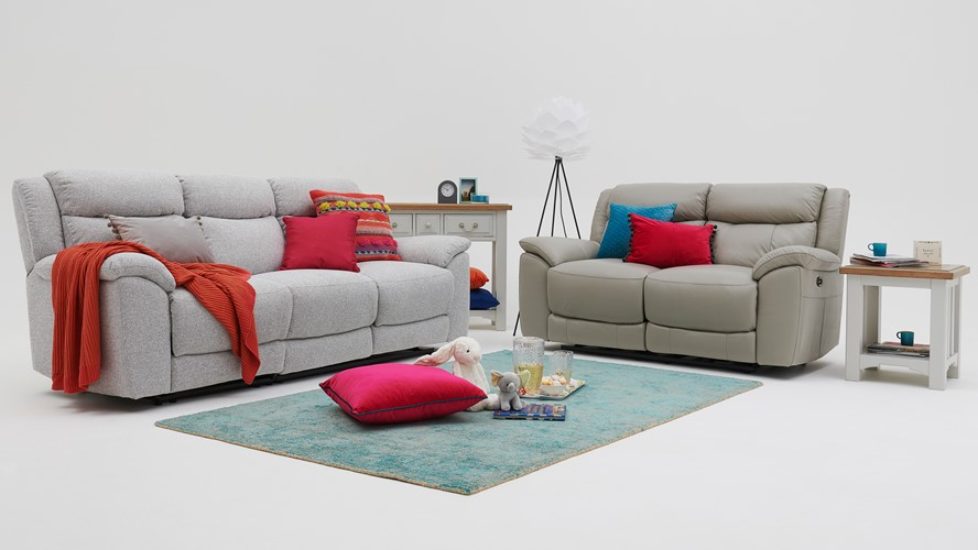 Repose 2 Seater Recliner Sofa - Leather