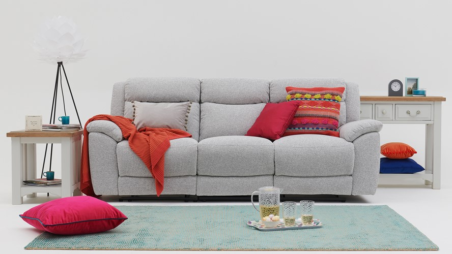 Repose 3 Seater Recliner Sofa - Fabric