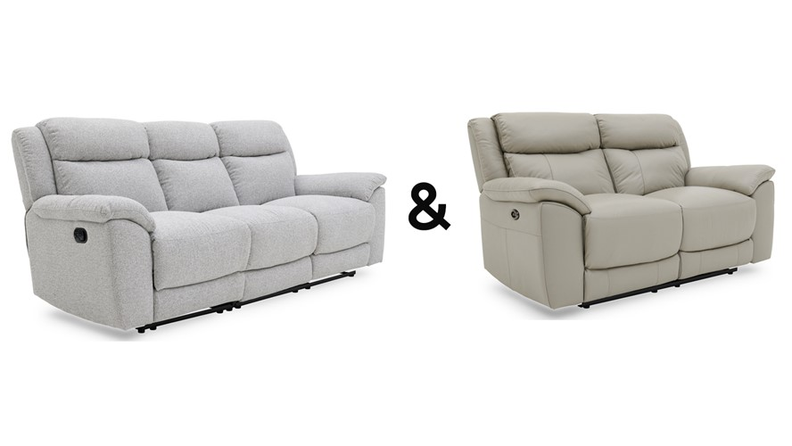 Repose 3 Seater Power Recliner & 2 Seater Power Recliner in leather