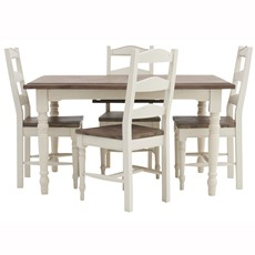 Rockport Extending Dining Table & 4 Turned Leg Chairs