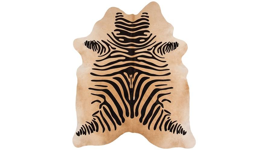 Rodeo Cowhide Zebra Print - Beige