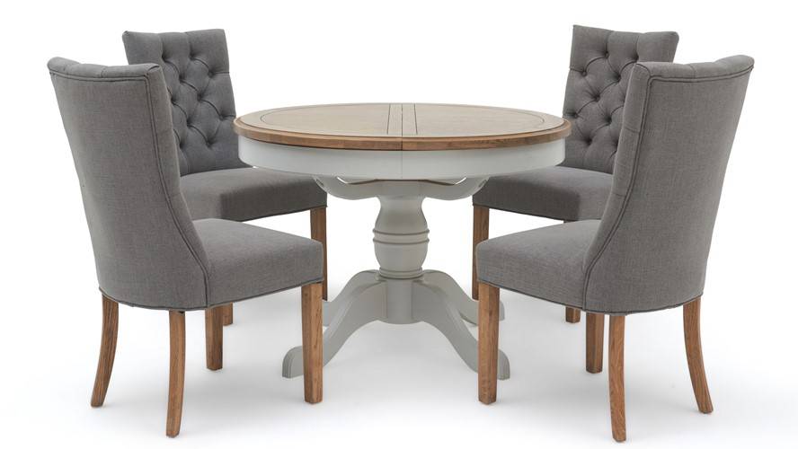 Maine Round Dining Table & 4 Rufus Chairs