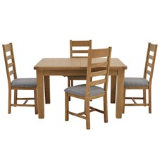 Ryedale Dining Table & 4 Slatted Back Chairs