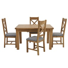 Ryedale Dining Table & 4 Cross Back Chairs