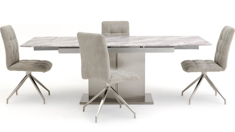 Samira Extending Table & 4 Dallas Chairs