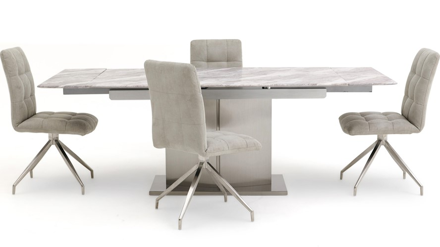 Samira Extending Table 4 Dallas Chairs Sterling Furniture