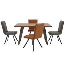 Santa Fe Dining Table & 4 Cali Chairs
