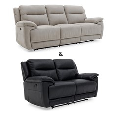 Serenity 3 Seater Power Recliner & 2 Seater Power Recliner in fabric