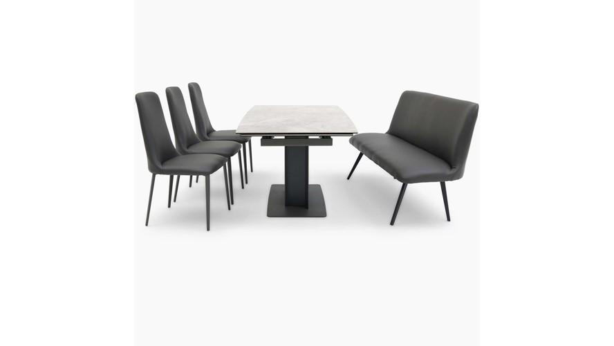 Sergio Table, Cierra Bench & 3 Chairs