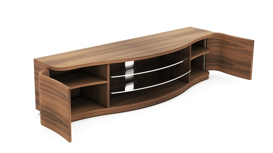 Tom Schneider Serpico TV Media Unit with Sound Bar