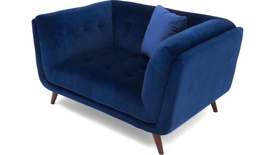 Siena Velvet 1.5 Seater Sofa