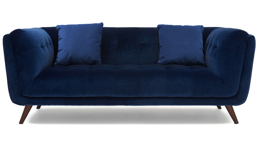 Siena Velvet Medium Sofa